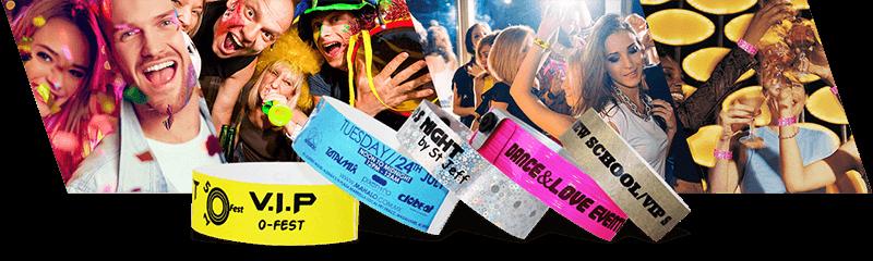 Polsbandjes voor kleine evenementen & feesten