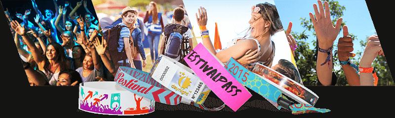 Polsbandjes voor festivals & concerten