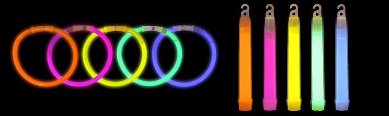 Lichtgevende polsbandjes & sticks