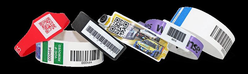 Polsbandjes met barcodes