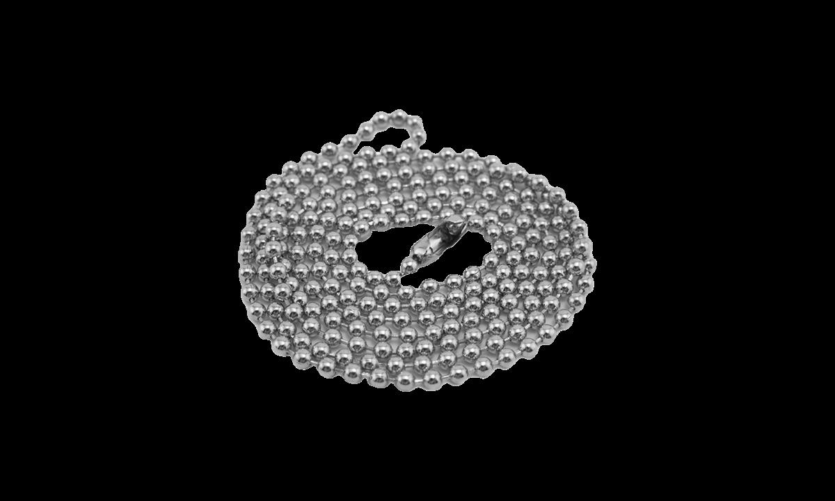 91 cm zonder nikkel afgewerkte halsketting met sluiting