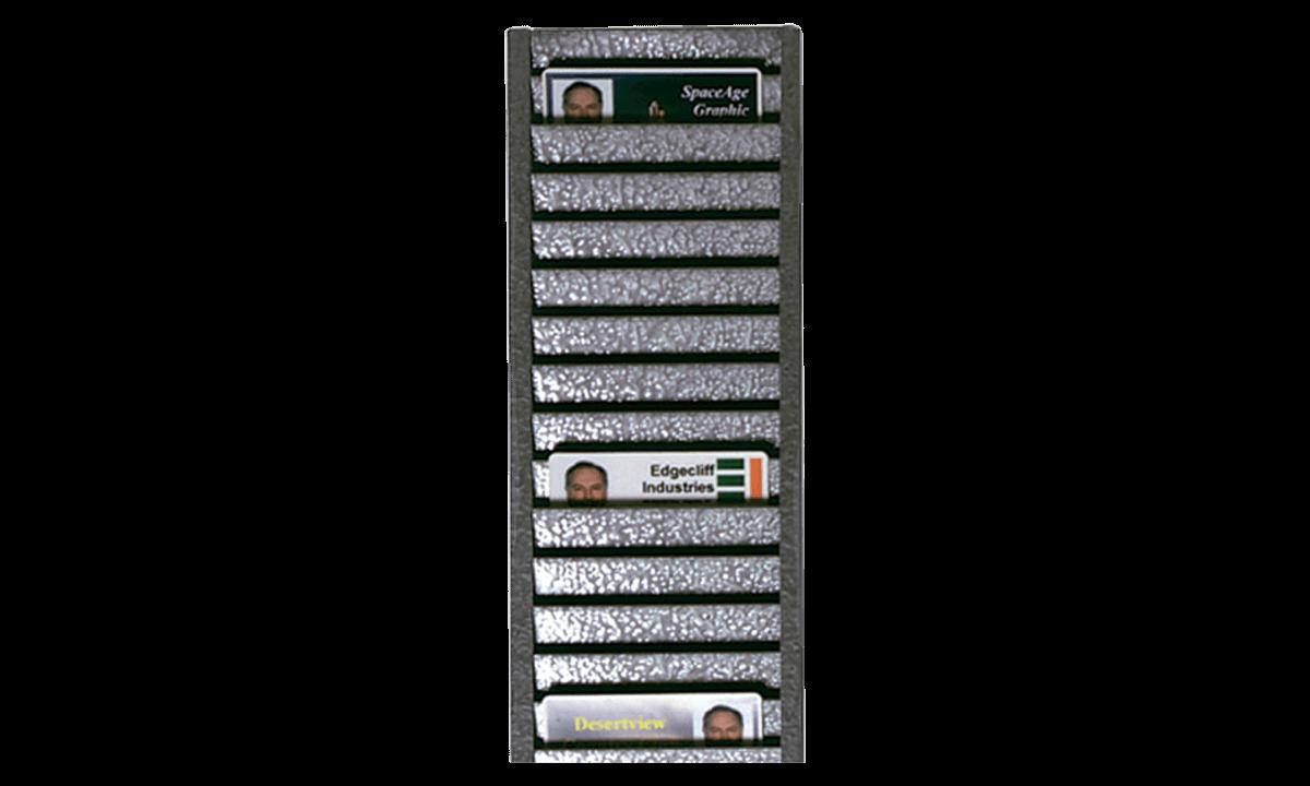 Geheel metalen ID-badgerek (kan tot 40 kaarten horizontaal bewaren)