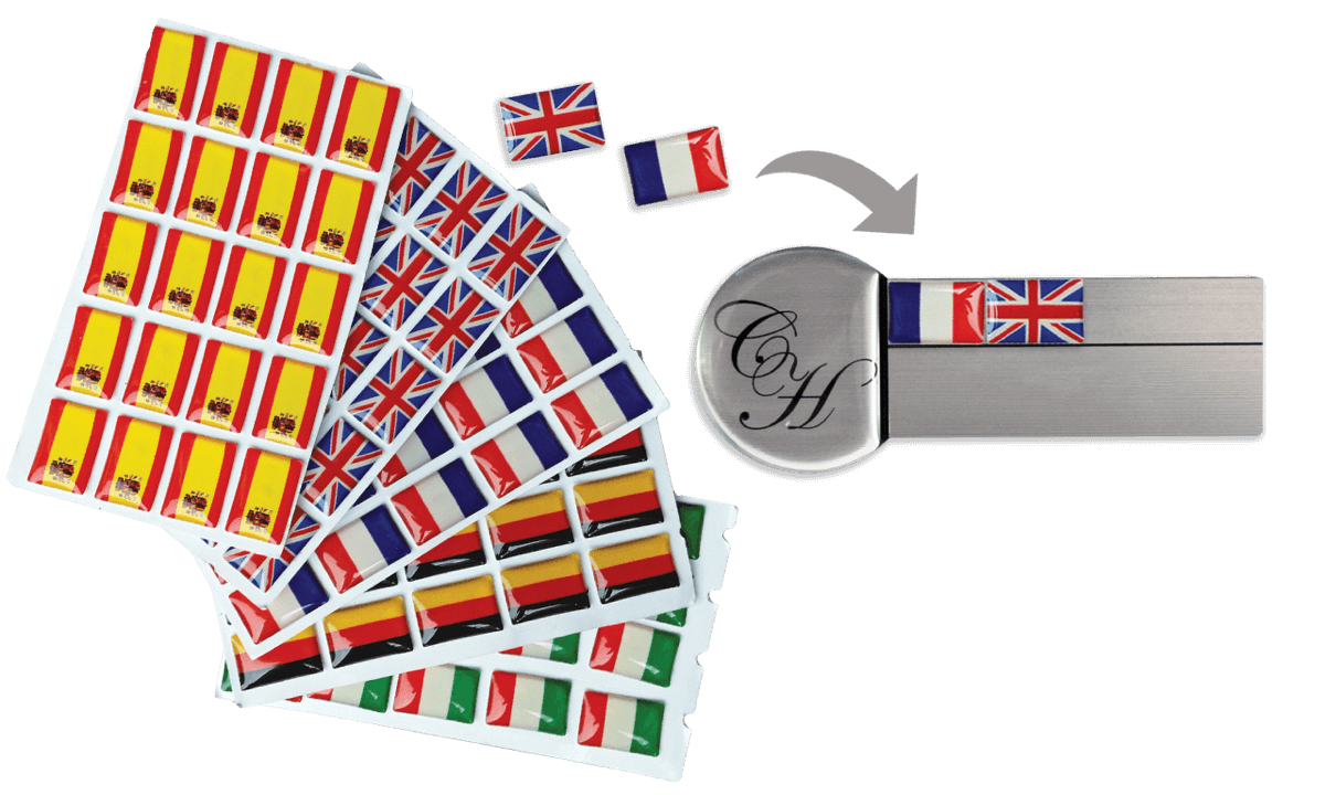 Vlaggenstickers