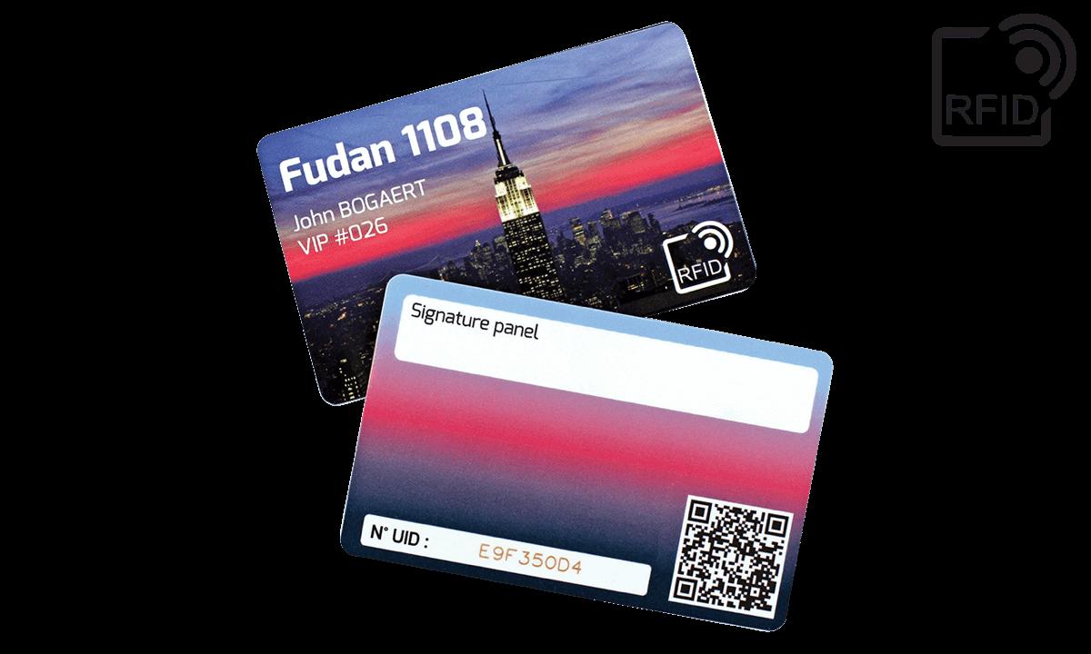 Personaliseerbare RFID kaarten 86 x 54 mm - Fudan 1108