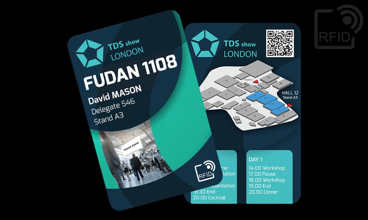 Personaliseerbare RFID kaarten 133 x 85 mm - Fudan 1108