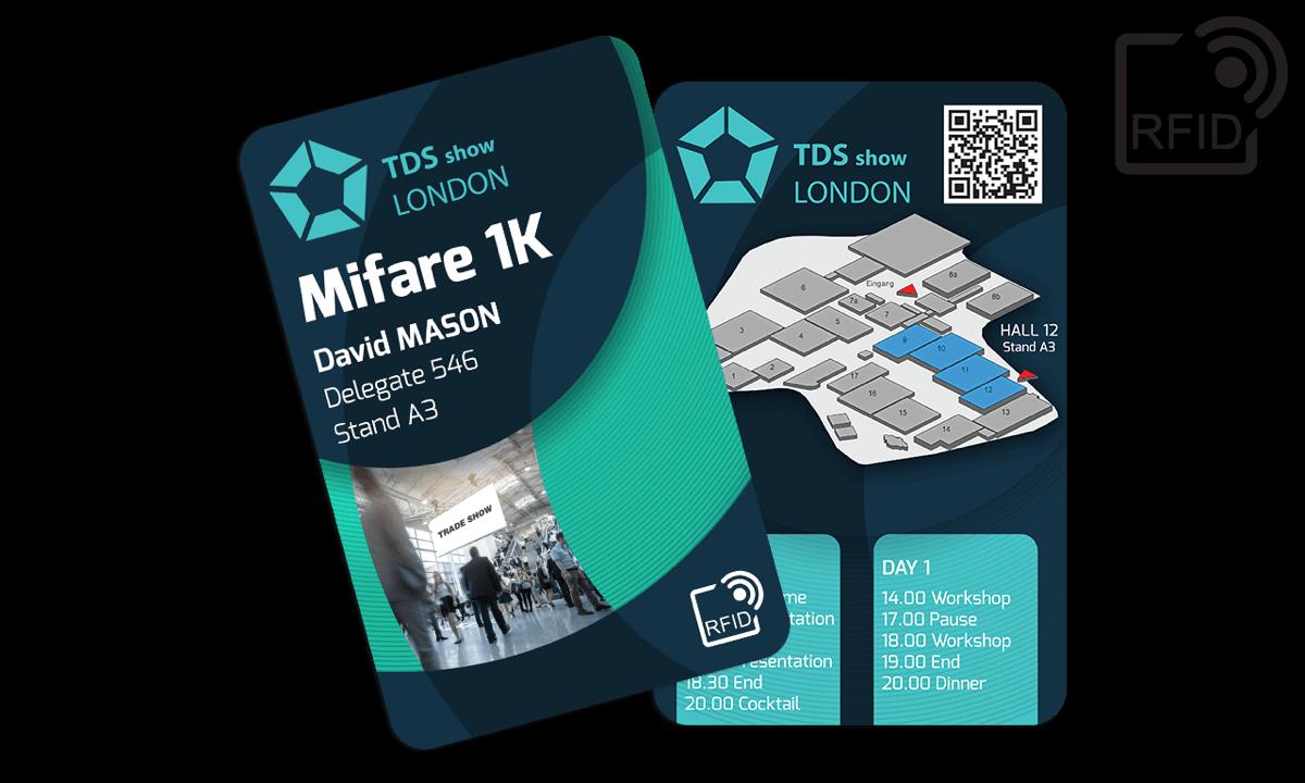 Personaliseerbare RFID kaarten 133 x 85 mm - Mifare 1K