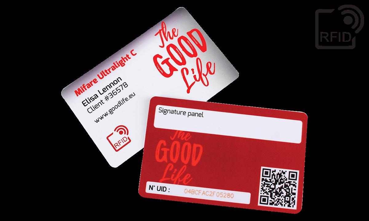 Personaliseerbare RFID kaarten 86 x 54 mm - Mifare UltraLight C