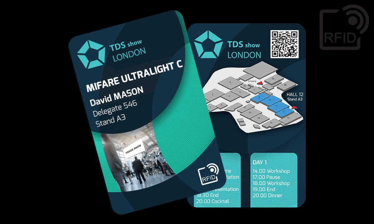 Personaliseerbare RFID kaarten 133 x 85 mm - Mifare UltraLight C