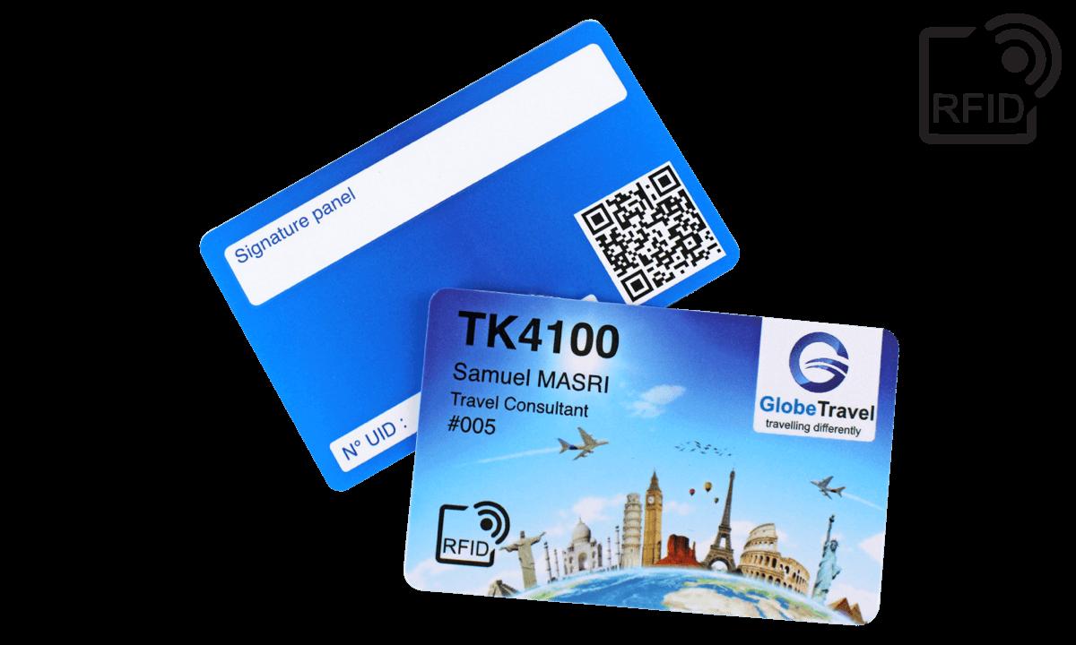 Personaliseerbare RFID kaarten 86 x 54 mm - TK 4100