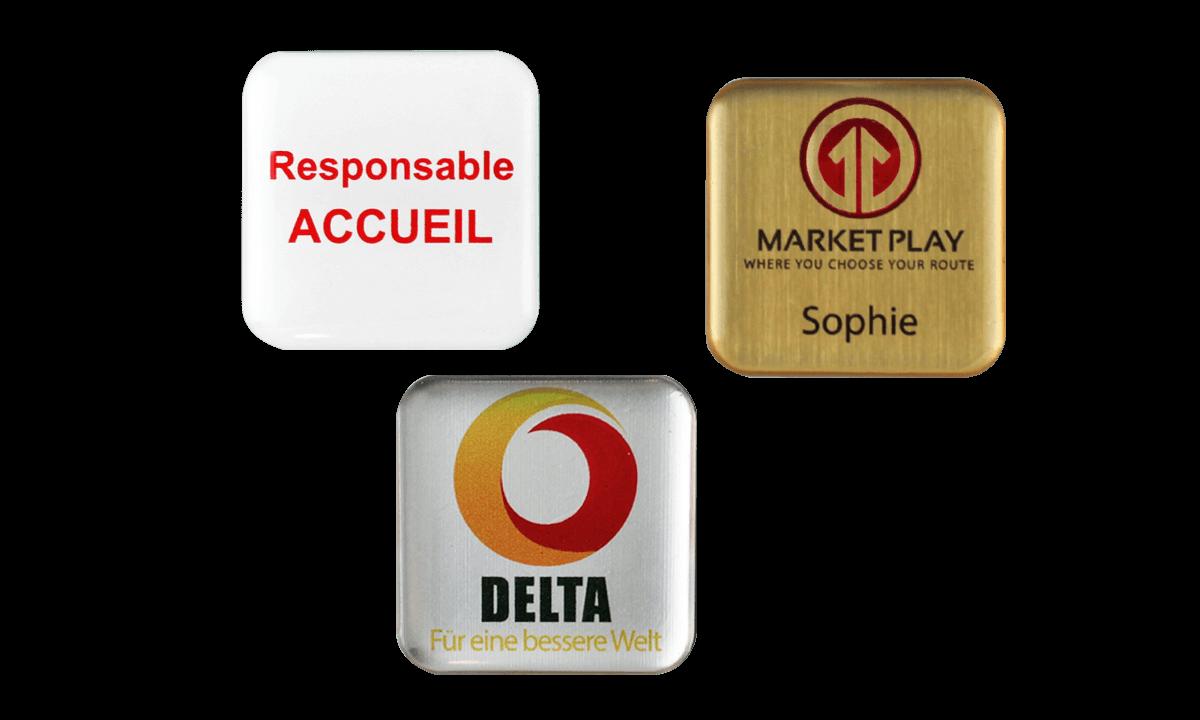 Premium Impress Naam badge, 32 X 32 mm