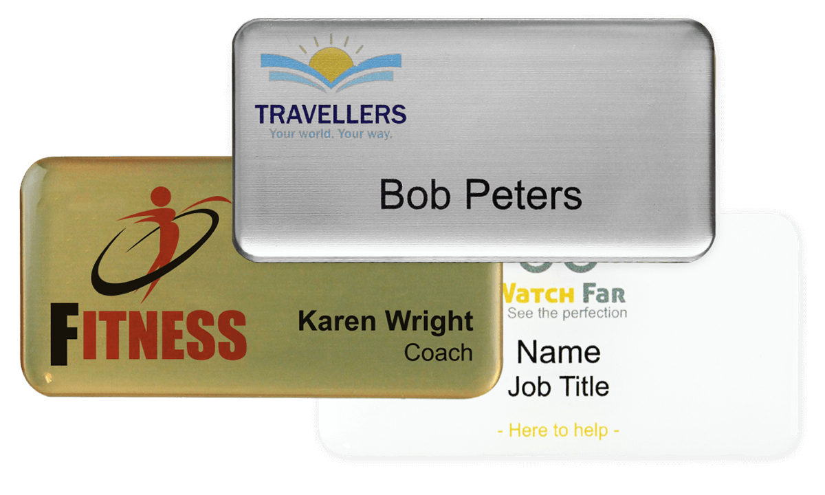 Premium Impress Naam badge, 75 X 38 mm