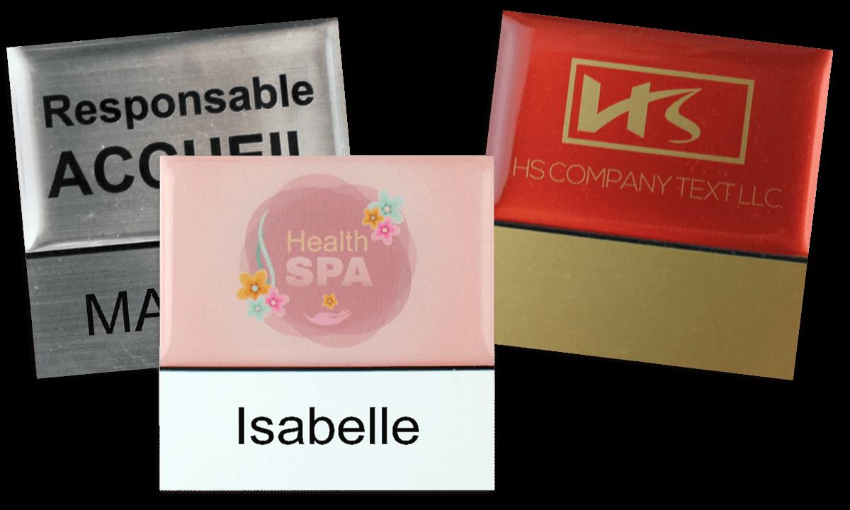 Premium Herbruikbare Naam badge, 50 X 50 mm - 18 mm zelfklevende etiketten