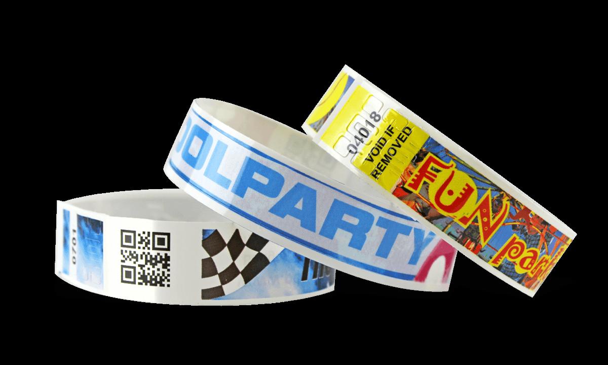barcode polsbandjes met full colour digitale afdruk, NPS 19 mm (matte afwerking)