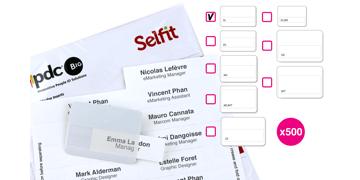 Selfit Single Line-insteekkaartjes, 70 x 12 mm, wit, 500 insteekkaartjes