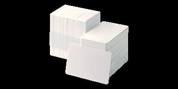 Blanco Rug-zelfklevend PVC kaarten met Paper Liner - 250 mic
