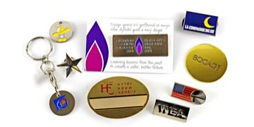 Zachte glazuur Metaal Badges