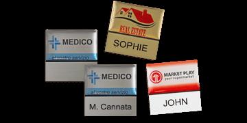 Premium Herbruikbare Naam badge, 32 X 32 mm - 12 mm zelfklevende etiketten