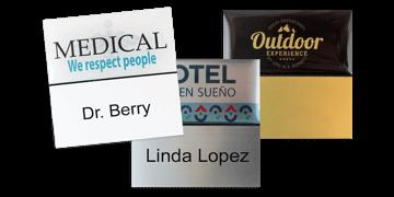Premium Herbruikbare Naam badge, 50 X 50 mm - 24 mm zelfklevende etiketten