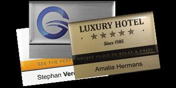 Premium Herbruikbare Naam badge, 75 X 50 mm - 12 mm zelfklevende etiketten