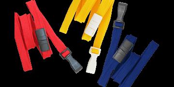 Buisvormige 10 mm afbreekbare keycords met plastic haak