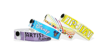 Plastic polsbandjes 19mm - digitale kleurafdruk, foto kwaliteit