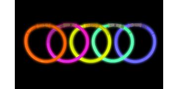 Lichtgevend polsbandjes in diverse kleuren