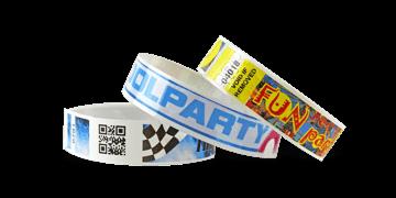 barcode polsbandjes met full colour digitale afdruk, NVS 19 mm (glanzend afwerking)
