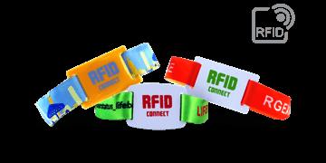 RFID stoffen polsbandjes met PVC slide